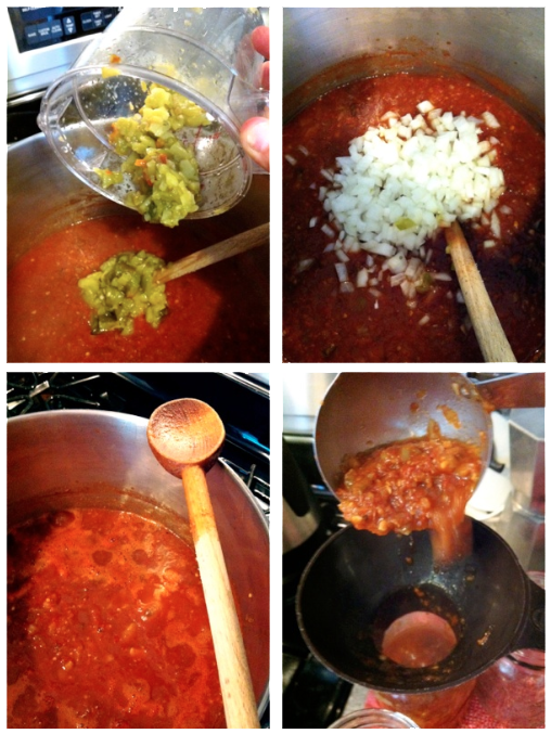 Canned Salsa Step by Step