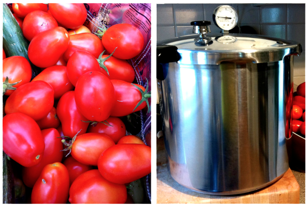 Canning Love Apples with a Pressure Canne
